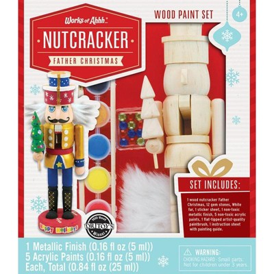 MasterPieces Inc Works of Ahhh Nutcracker Father Christmas Wood Painting Kit