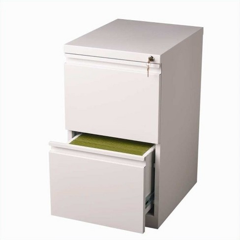 Steel 20 in Deep 2 Drawer Mobile File Cabinet in White-Hirsh Industries - image 1 of 1