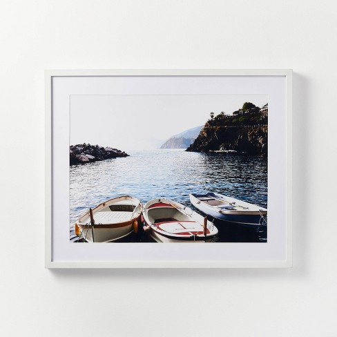 """30"""" x 24"""" Docked Boats Framed Wall Art - Threshold™ designed with Studio McGee - image 1 of 4"""