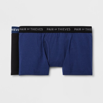 Pair of Thieves Men's SuperSoft Trunks 2pk - Navy/Black