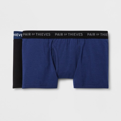 Pair of Thieves Men's SuperSoft Trunks 2pk - Navy/Black - image 1 of 4