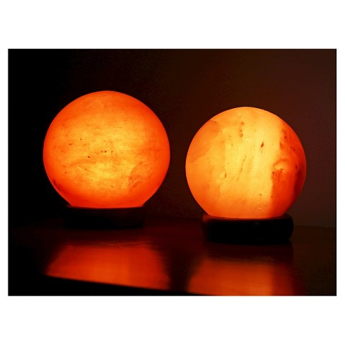 Accentuations By Manhattan Comfort Sphere Shaped Himalayan Salt Lamp ... de0ca662b