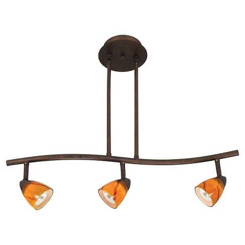 Cal Lighting Rust finish Metal Serpentine Pendant with 3 Adjustable heads - image 1 of 1