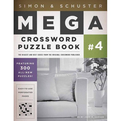 Simon & Schuster Mega Crossword Puzzle Book #4 - (Simon & Schuster Mega Crossword Puzzle Books) - image 1 of 1