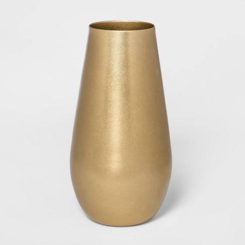 "11.6"" x 6"" Brass Hurricane Vase Gold - Threshold™ - image 1 of 3"