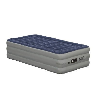 Flash Furniture 18 inch Air Mattress with ETL Certified Internal Electric Pump and Carrying Case