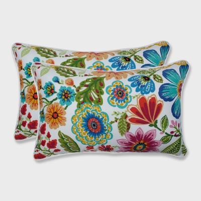 2pk Gregoire Prima Rectangle Outdoor Throw Pillow - Pillow Perfect