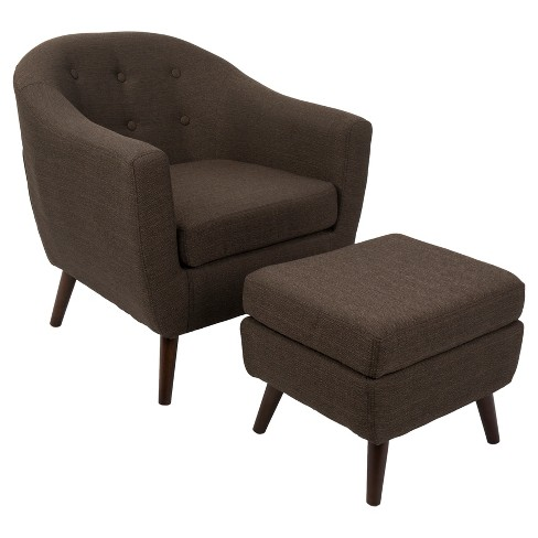 Rockwell Mid Century Modern Chair Wottoman Lumisource Target