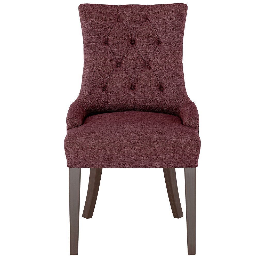 English Arm Dining Chair Wine Linen - Threshold