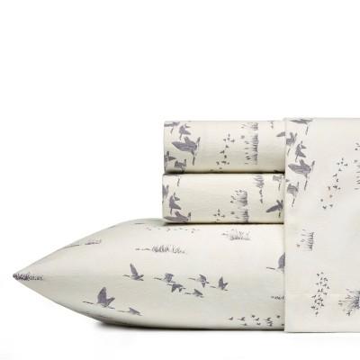 King Patterned Flannel Sheet Set Geese - Eddie Bauer