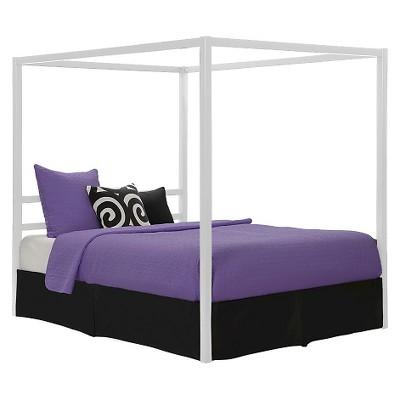 Queen Briella Metal Canopy Bed White - Room & Joy