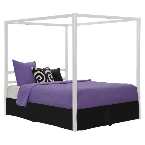 Queen Briella Metal Canopy Bed White Room Joy