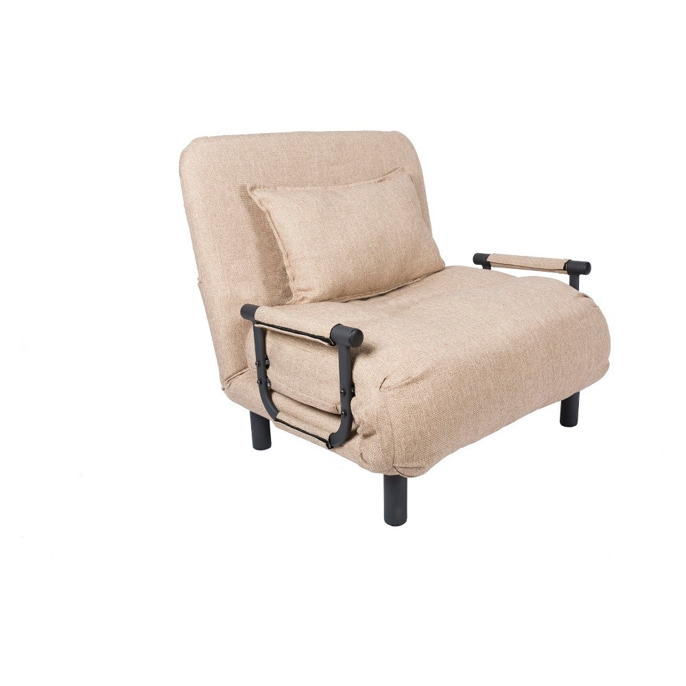 Image of Pragmabed Single Sleeper Convertible Chair Beige