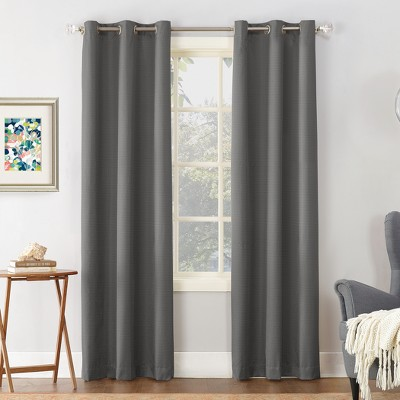 Cooper Textured Thermal Insulated Grommet Top Room Darkening Curtain Panels - Sun Zero