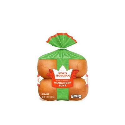 King's Hawaiian Sweet Hamburger Buns - 12.8oz/8ct