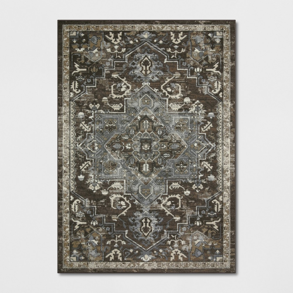7'X10' Tribal Design Tufted Area Rugs Brown - Threshold