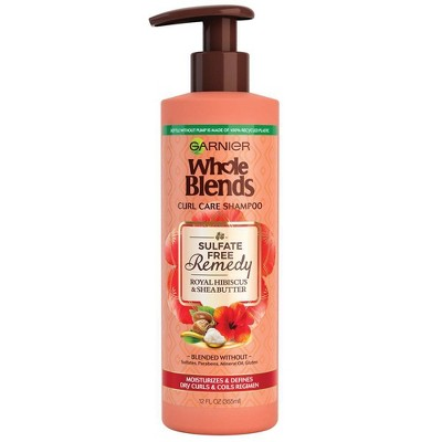 Garnier Whole Blends Sulfate Free Remedy Hibiscus and Shea Shampoo Dry Curls - 12 fl oz