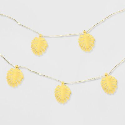 25ct Palm Leaf LED Mini Fairy Outdoor String Lights - Opalhouse™