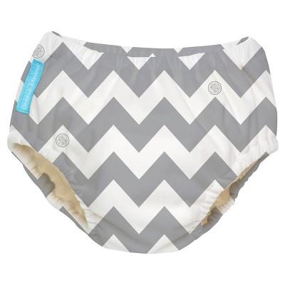 Charlie Banana Reusable Swim Diaper, Gray Chevron, XL
