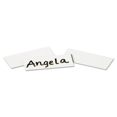 Quartet Magnetic Write-On/Wipe-Off Strips 2w x 7/8h White 25/Pack MWS