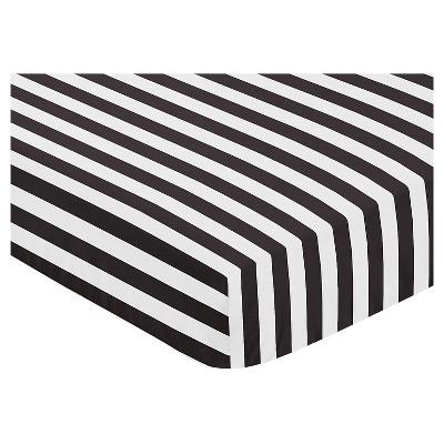 Sweet Jojo Designs Paris Fitted Crib Sheet - Stripe