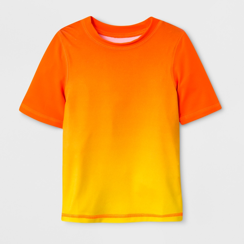 Toddler Boys' Short Sleeve Ombre Rash Guard - Cat & Jack Orange 6
