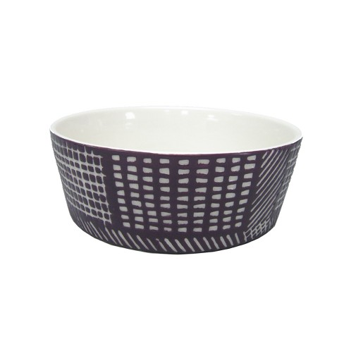 Ceramic Dog Bowl with Carved Pattern - Berry - 4 Cup - Boots & Barkley™ - image 1 of 1