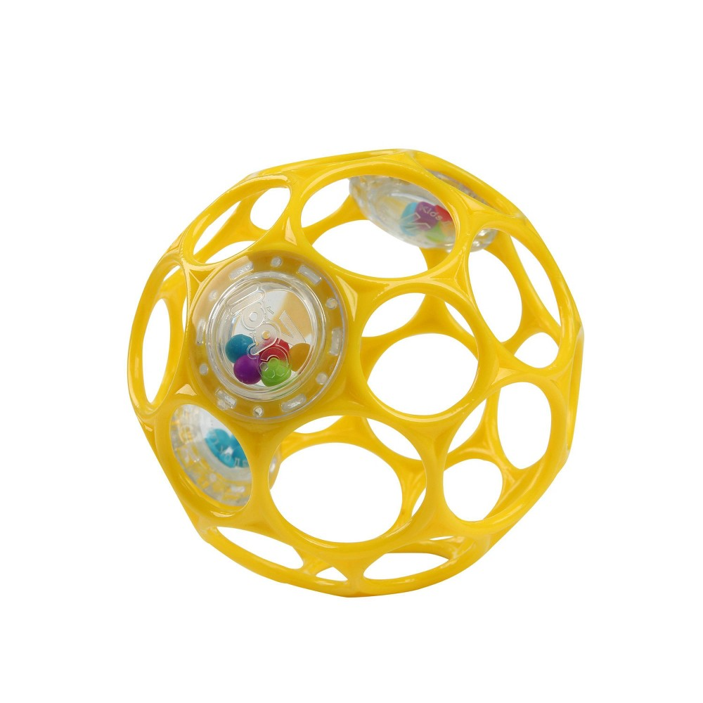 Image of Oball Toy Ball Rattle - Yellow