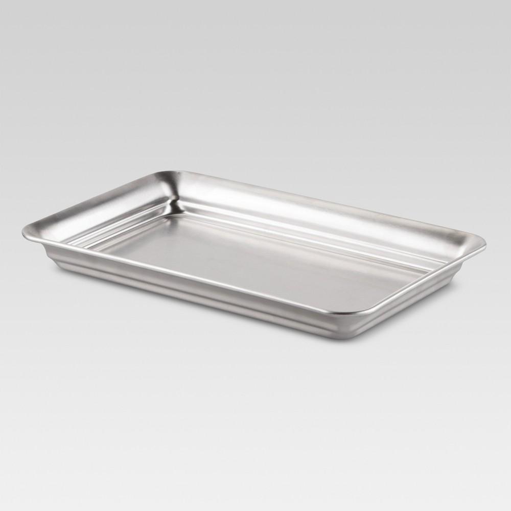 Bathroom Tray Brushed Nickel - Threshold