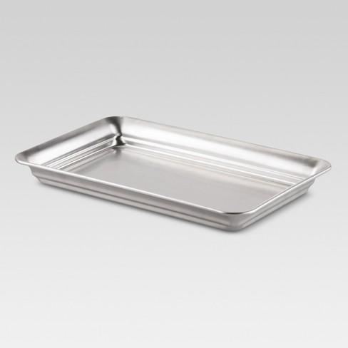Bathroom Tray Brushed Nickel - Threshold™ - image 1 of 4