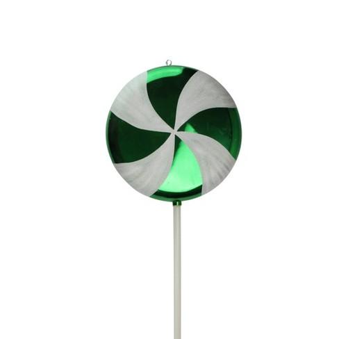 "Vickerman 40"" Huge Candy Fantasy Swirl Lollipop Christmas Ornament - Green Apple - image 1 of 3"