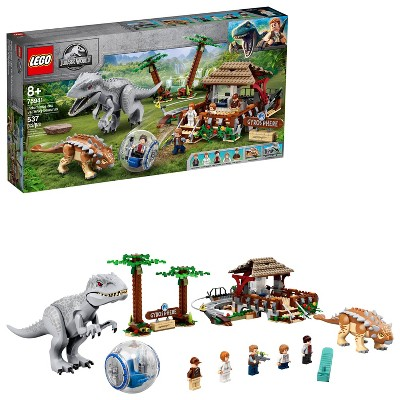 LEGO Jurassic World Indominus rex vs. Ankylosaurus Awesome Dinosaur Building Toy for Kids 75941