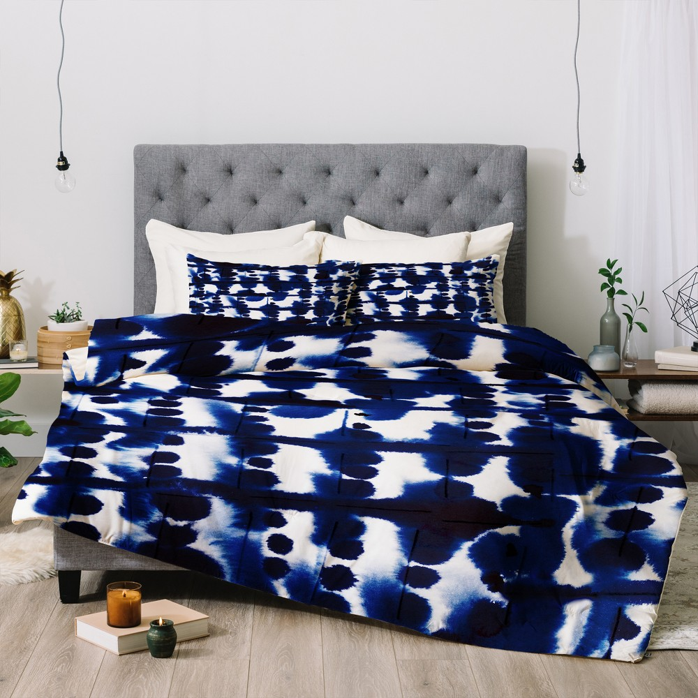 Blue Maldonado Parallel Comforter Set (Queen) - Deny Designs