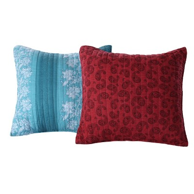 Greenland Home Fashion Bohemian Dream Multi Decorative Pillow Pair 18 x 18""