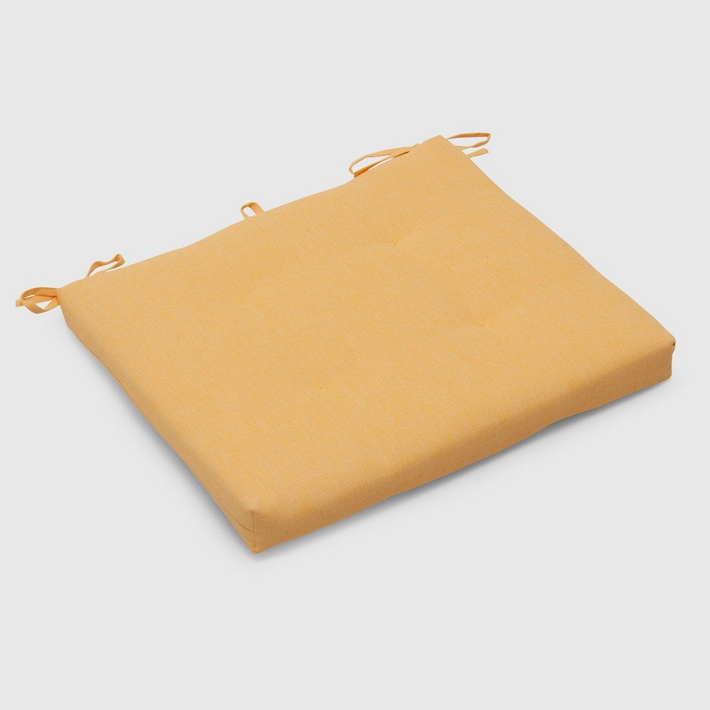 Outdoor Tufted Seat Cushion Yellow - Threshold