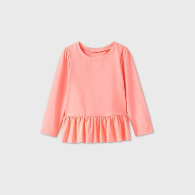 Toddler Girls' Ruffle Rash Guard - Cat & Jack™ Pink