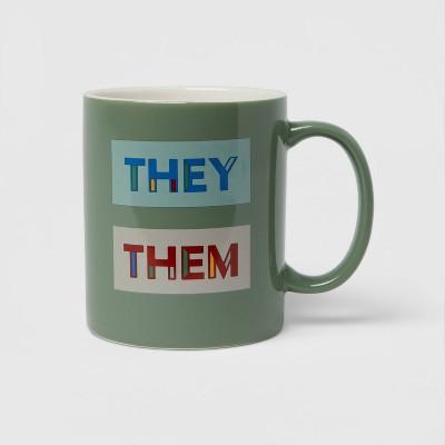 15oz Stoneware They Them Mug - Room Essentials™