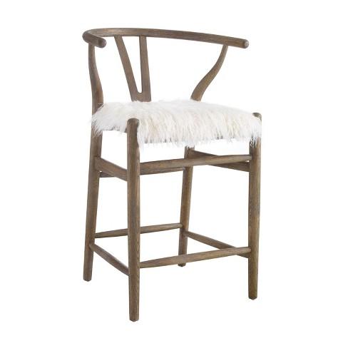 Pleasing Ellis Wishbone Counter Stool White Linon Machost Co Dining Chair Design Ideas Machostcouk