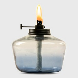 TIKI Glass Outdoor Tabletop Torch - Blue