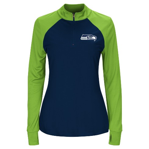 official photos a0f13 f15ab Seattle Seahawks Women's Inspired Intensity Quarter Zip Pullover