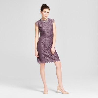 00c84216b90706 Womens Lace Sheath Dress – Xhilaration™ Mystical Purple M ...