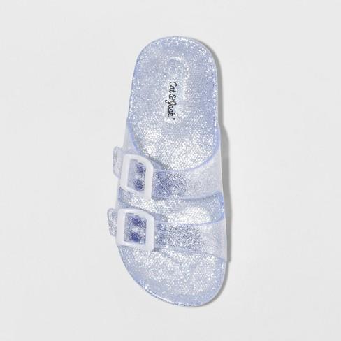 936a36352 Girls' Susan Jelly Slide Sandals - Cat & Jack™ Silver. Shop all Cat & Jack