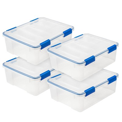 IRIS 26.5qt 4pk Weather Tight Storage Box Clear