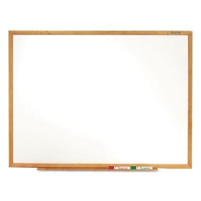 Quartet Classic Series Melamine Whiteboard 48 x 36 Oak Finish Frame S574