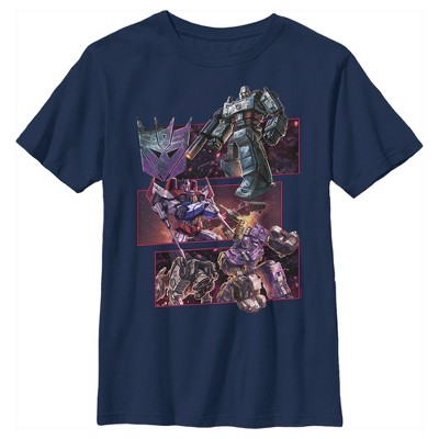 Boy's Transformers Decepticons Character Panels T-Shirt