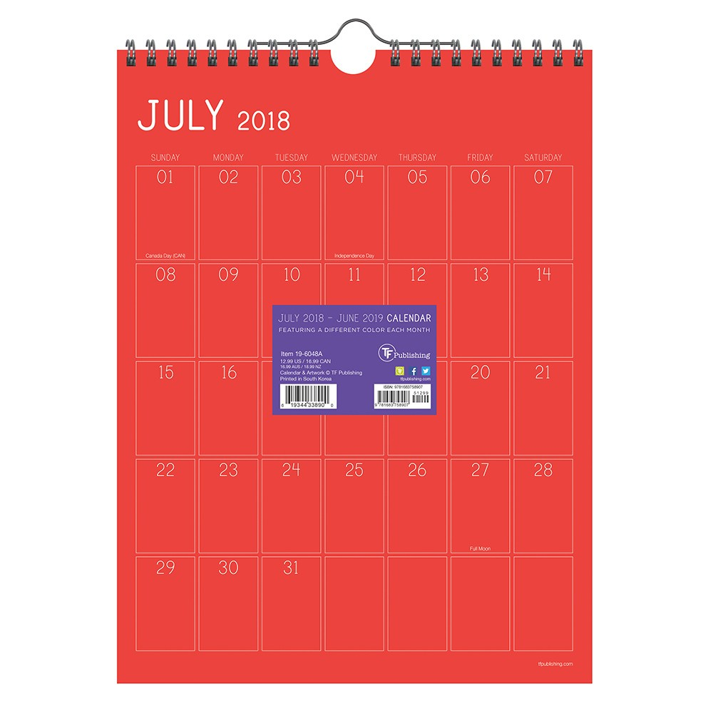 Calendars TF Publishing Multi-colored, Color Collection