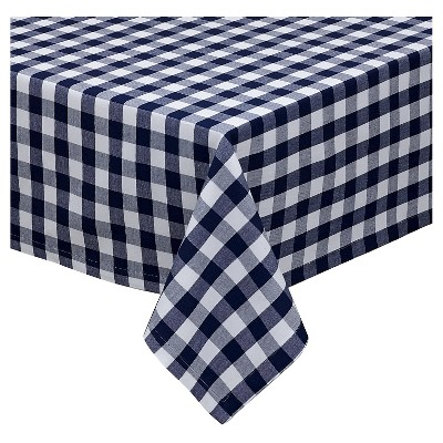 White Nautical & White Checkers Tablecloth (52 X52 )- Design Imports