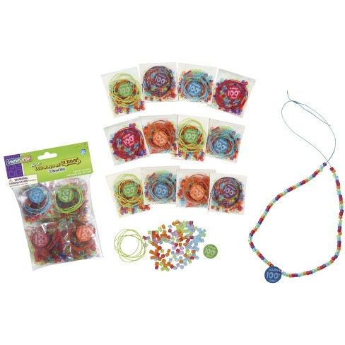 Creativity Street Bead Kit with Printed 100 Day Bead, Assorted Color - image 1 of 1