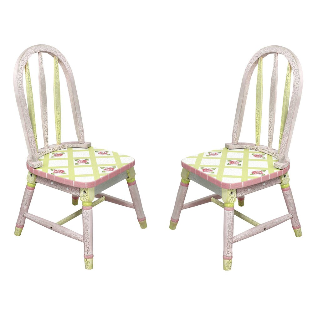 Image of Set of 2 Crackled Rose Fantasy Fields Chairs - Teamson Kids