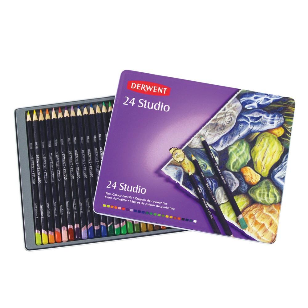 Studio Colored Pencils Multicolor - Derwent 24ct, Multico...